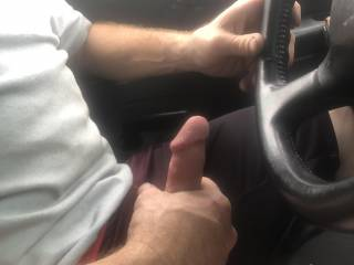 I was driving home from fucking my girl and a friend and got real hard thinking about fucking them again and the girl next to me smiled so I whipped it out, what would you have done ?