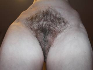 My mature friend shows me her hairy beauty