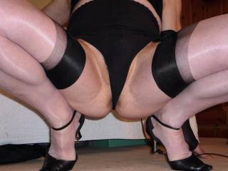 You are always so sexy, nylons,heels and all, mmmmmmmm