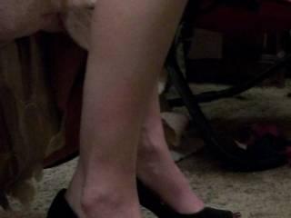 her new heels