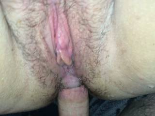 That delicious pussy needs to be licked as you enjoy that cock  xx