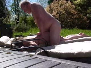 Nieghbor man gets a blowjob