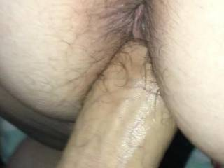 I love looking down at Kiki's hairy little asshole while I fucking her pussy and seeing it wink at me every time I slide my cock in and out of her!