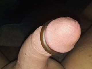 Just shaved,  cock ring on, anybody want some?