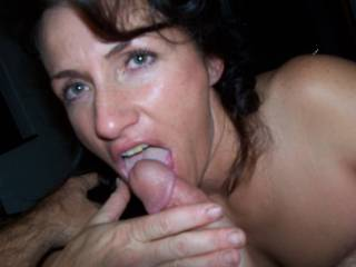 She is licking my cock, getting it ready to fuck her ass