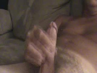 That's a great cock you have, my friend.  And I love thick loads like this.  I'd have a lot of fun licking and eating that load out of your pubes.