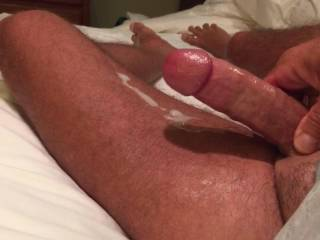 I really enjoyed listening to you orgasm and shoot your hot thick load while you wiggle your toes!!  HOT HOT HOT!!