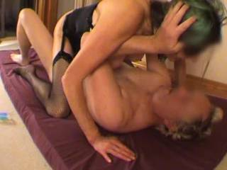 Long slow fuck in 3 parts - pt3 Part 3 - more sucking, some fucking, a DP with a dildo in her ass (and I think you can tell she came hard during that) and then still more fucking with a hard spanking (which made her come again I think).  Usually spanking