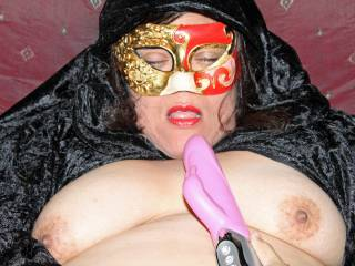 Now I can tell just how Beautiful you really are, the mask let's me see a little more, WOW!