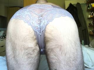 I do love wearing my wife's panties. Lacy and sheer is best x