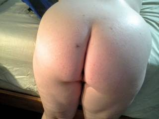 After a spanking and before a big cock up my ass