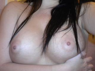 who likes these sweet tits?? might have more shots if interested-let me know