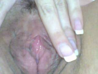 she was showing me how wet she was while masturbating.
