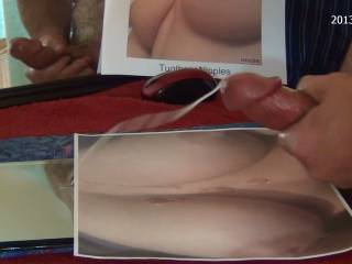 Soaking TugTheseNipples big tits....this might take more than one of my cum loads.