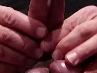 My cock and balls are tied so tight my cum only oozed out!