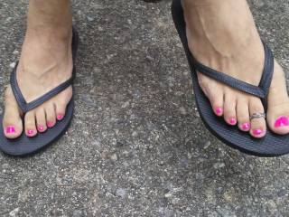 sexy pink toes