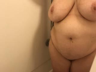 My BBW in the shower