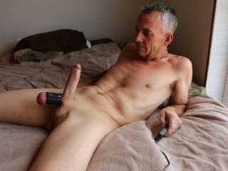 enjoying my hard cock