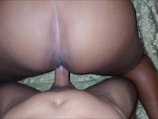 watch her work that phat ebony ass while pushing it back on this wet hard cock