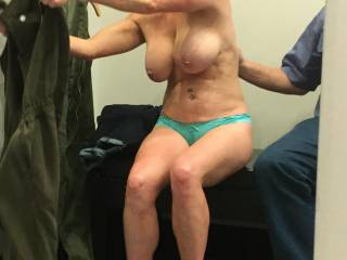 Shopping is fun with my little slut.  Buy her some nice things and she pays back 10-fold. Shes over 50. What a body!