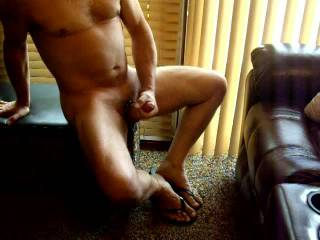 I was so turned on and the cock ring made me explode all over my feet!