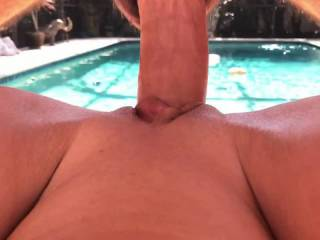 Gotta love a big juicy session poolside! What do you think?!?