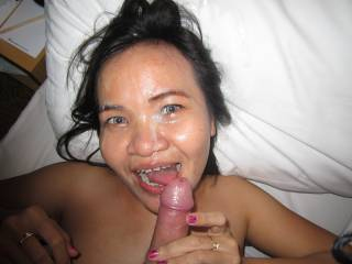 Candy in Jakarta, gets a great facial....