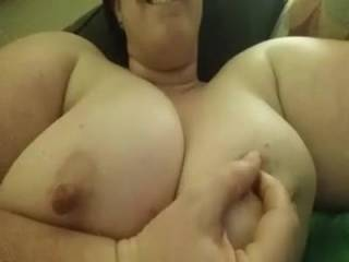 I would love to suck those big nipples for you cutie! They look tasty!