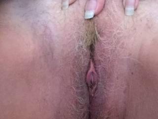 Jerking to cum rear view