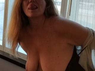 The TITS are out and the Tounge is Waiting.......Mmmmm Any ideas what they Want???