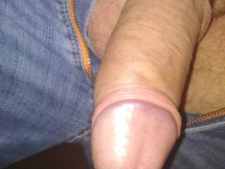 Wearing a cock ring all day. Pulled back the foreskin :)~