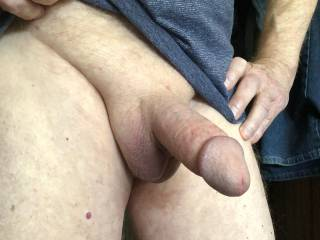 Showing off my cock on cam.