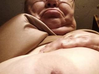 I get  up every day to a selfie of my wife\'s huge tits telling me she wants me to suck them , she is amazing hope you all like them
