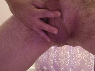 My cock and freshly shaved balls in the shower, join me?