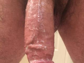 Freshly fucked out .  Love to See a woman's cum on My dick .