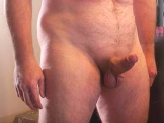 Hard shaved cock for fun - Want some?