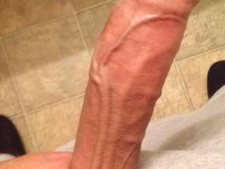 Huge uncut white cock