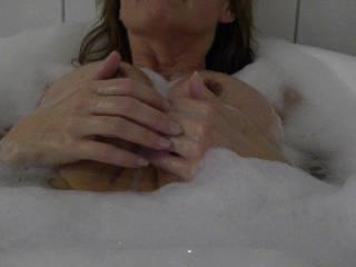 My hot wife enjoy the bath!