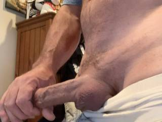 Teasing my cock  to get it hard