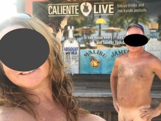 Just a selfie at our favorite clothing optional resort