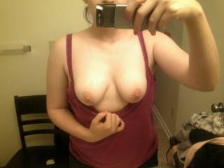 Nice looking breasts...and delicious looking nipples.