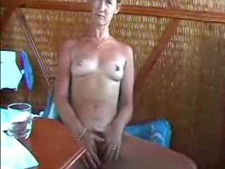 loved seeing her breast but was really turned on when she spread her labia and started to masturbate for us. very nice looking body too