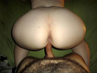 Love the view of her fantastic ass & asshole while her pussy takes cock!