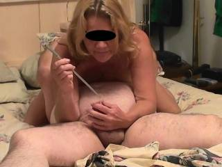 I love Sounding his fat dick and doing it 69 style was awesome. He is using his mouth to eat my pussy and get me off 3 times while I use my mouth to fuck his dick with a long Dittle Sound. Have you ever had this done to you? Do you think you would enjoy?