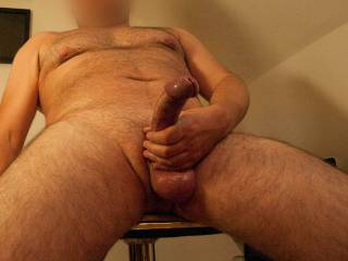 playing with my freshly shaved cock and balls, any ladies out there like to feel how smooth it is?
