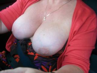 Oh my goodness! Would love to kiss, suck and nibble on those beautiful gorgeous breasts!