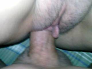 Another good pic of my hubby giving me his hard cock