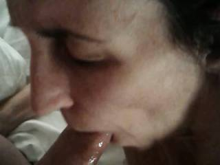 Hotel blow job - was Hoping to share her with Pit67, but she was nervous.  Maybe next time!
