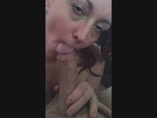 This is what I do, I love having a cock in my mouth.  I love the feel, the taste, the cum reward I get at the end.  And Im not done when I get my cum...I always want more, as you can see at the end.  You can also see the exact moment cum gets in my eye ;)