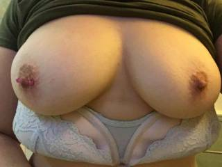 Shes got amazing tits! Always showing them off! Do you like them?